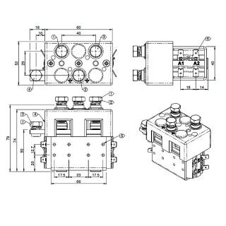 DC88B-467L Albright 12V DC Motor Reversing Switch Solenoid
